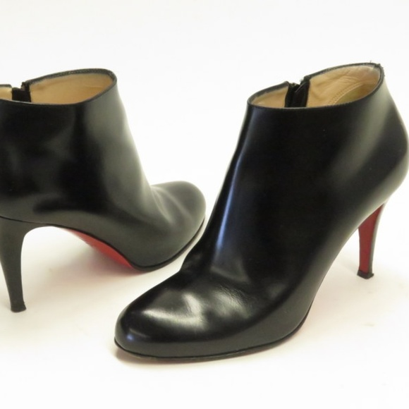 d32acf38bdc4 Christian Louboutin Shoes - Christian Louboutin Belle 85 Ankle Boots Black